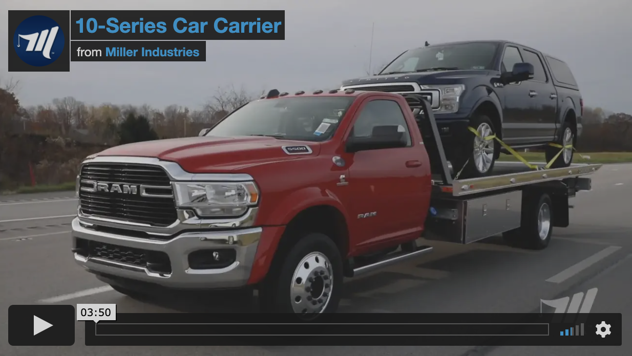 Miller Industries produces the leading 10,000 lb. car carriers in the towing and recovery industry.