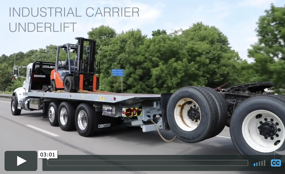 Heavy-Duty 3-Stage Underlift for (LWB) 30 & 40-Series Industrial Carrier Video from Miller Industries