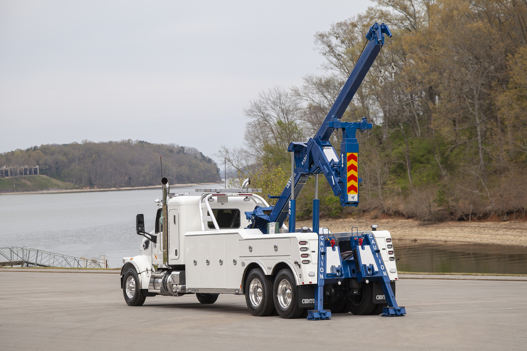 Century® 5130 Heavy-Duty Integrated Wrecker is the Worlds Best 25-Ton Towing & Recovery Unit from Miller Industries