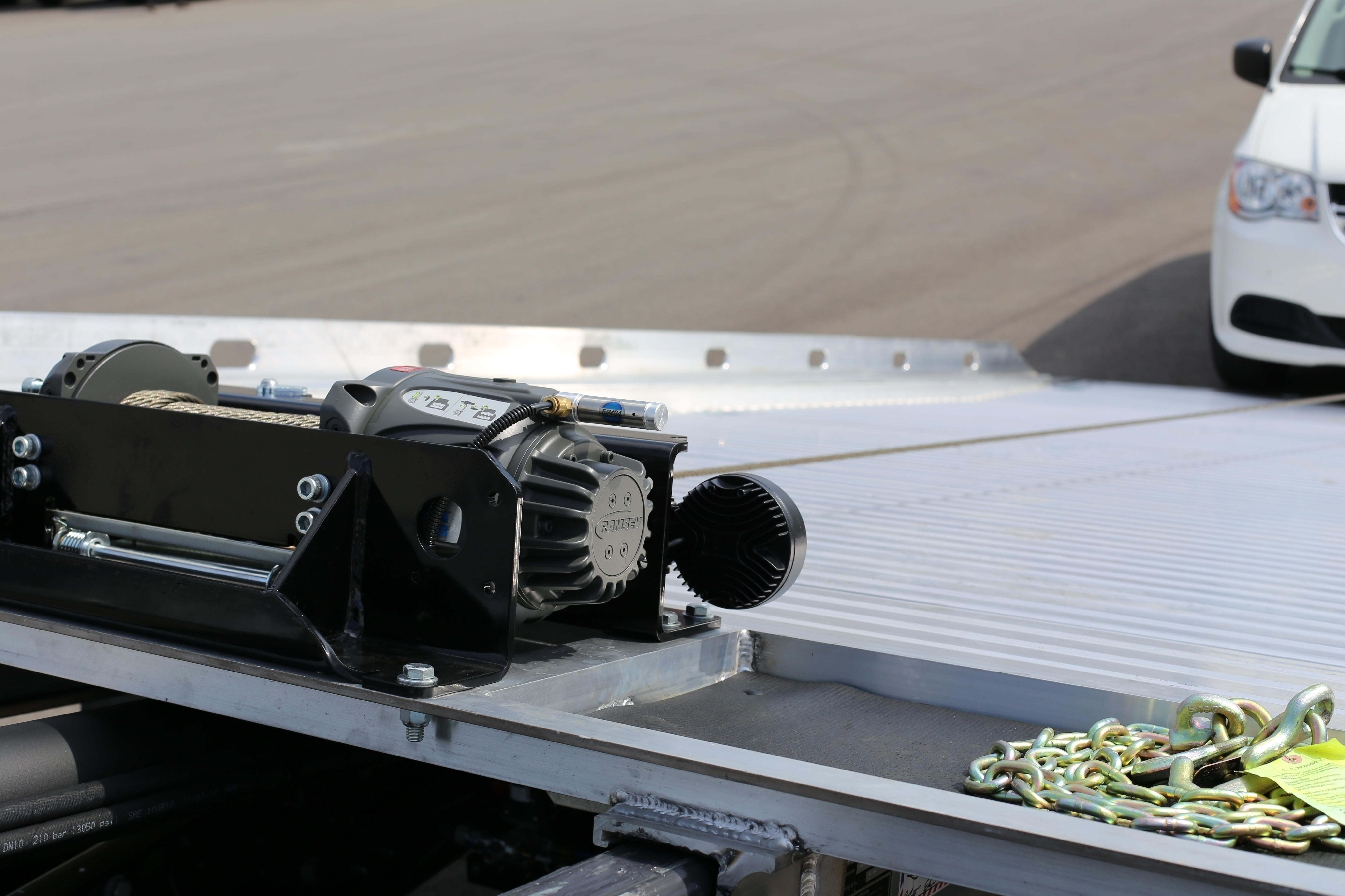 Ramsey® Sierra 8k Winch for 12-Series available on Miller Industries Century, Vulcan, and Chevron Car Carriers