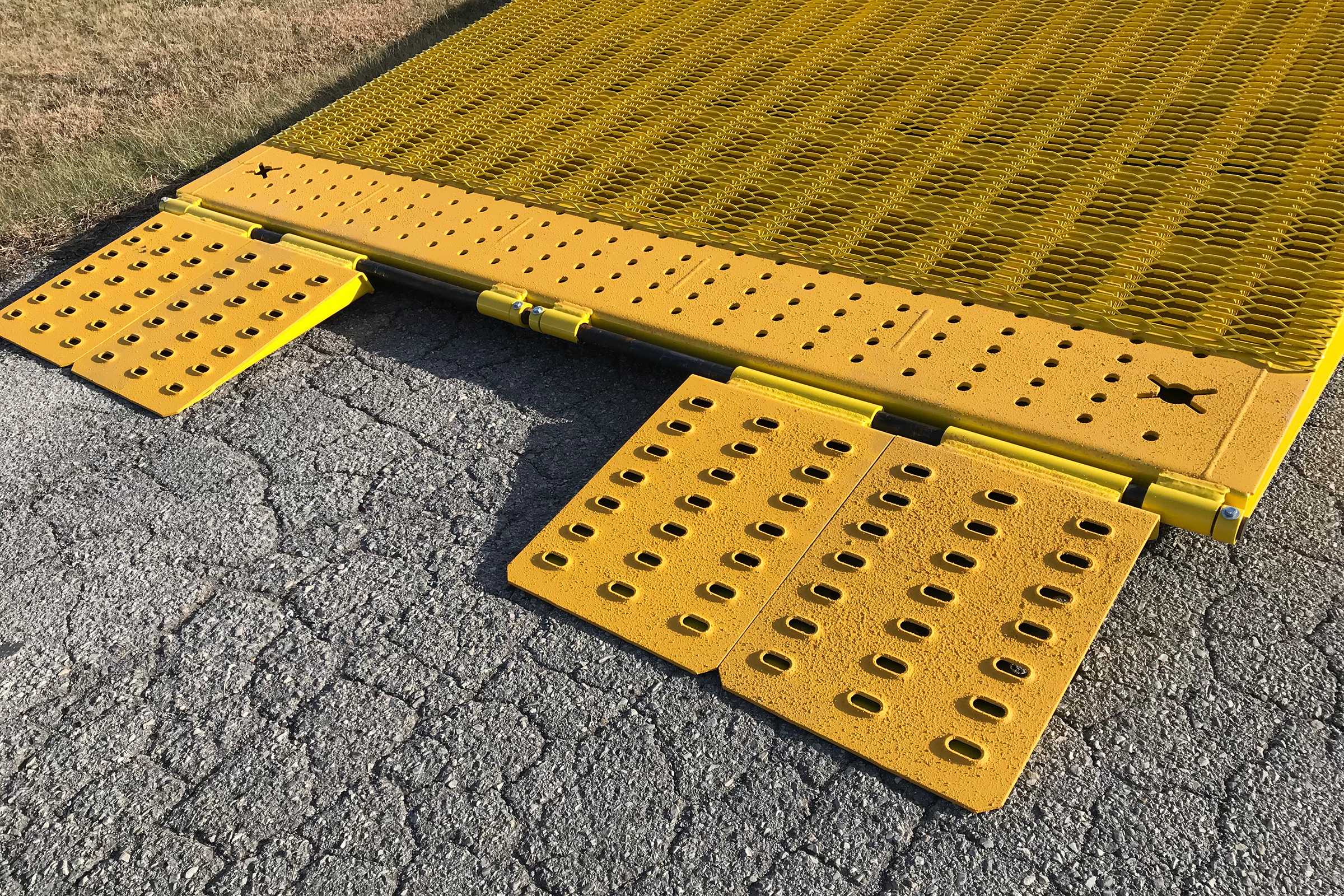 Special Transport Miller Adjustable ramps for loading freight.