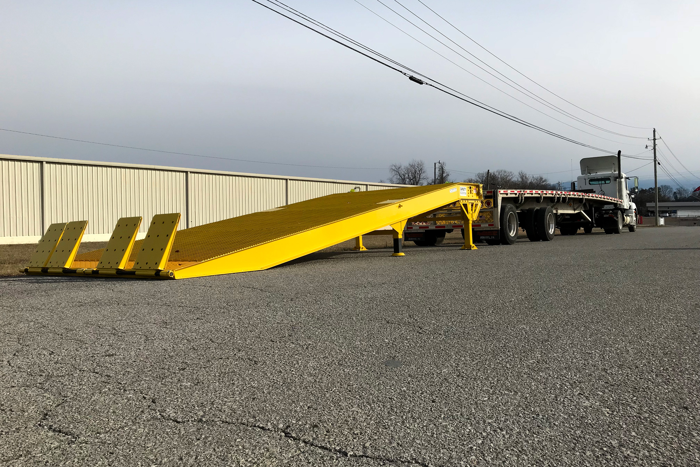 Special Transport Miller The Yard Ramp from Miller Industries is portable and can be used anywhere.