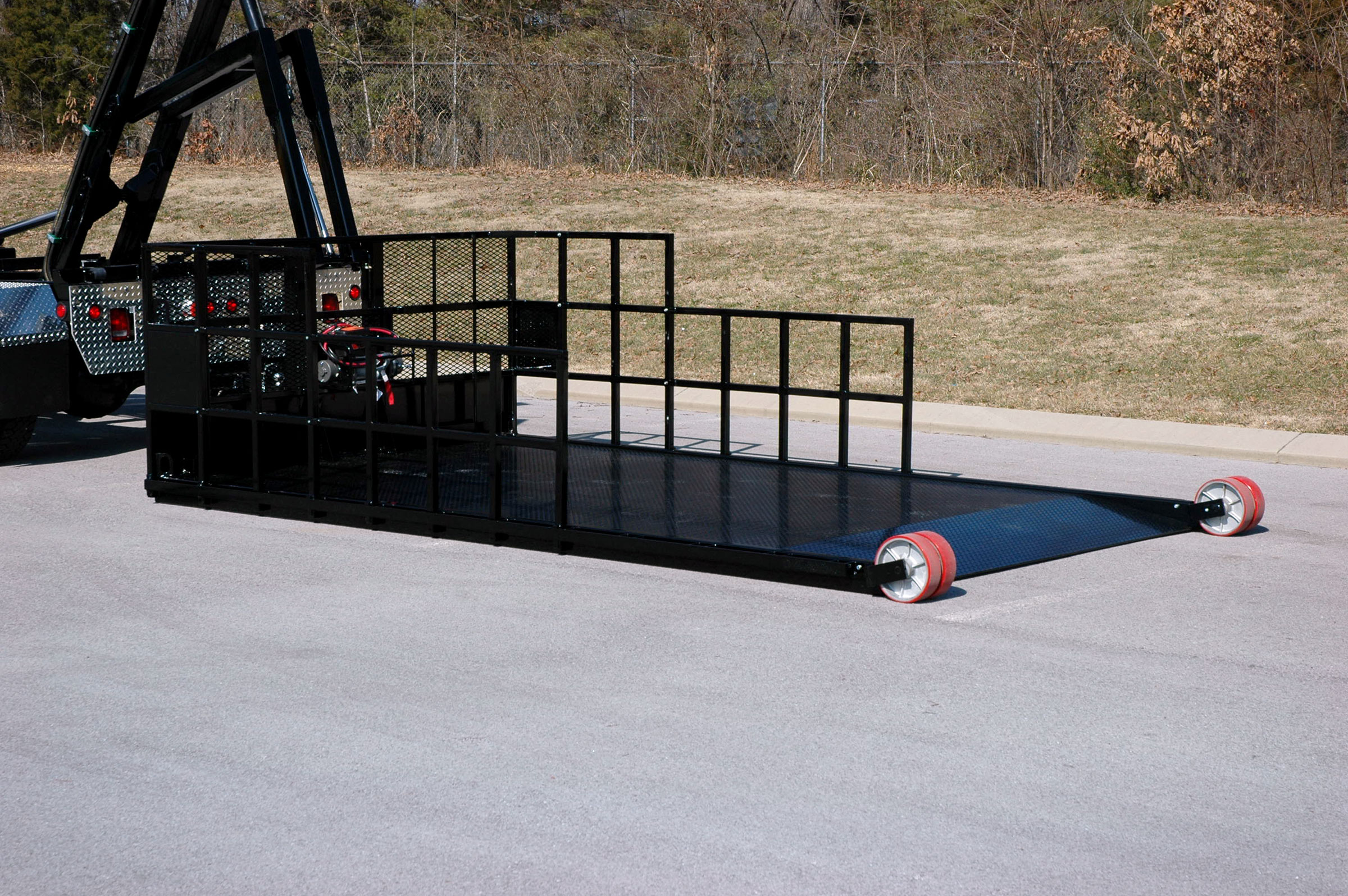 Special Transport Titan Flatbed, Roll-Off, rollback, rental, equipment hauler, construction
