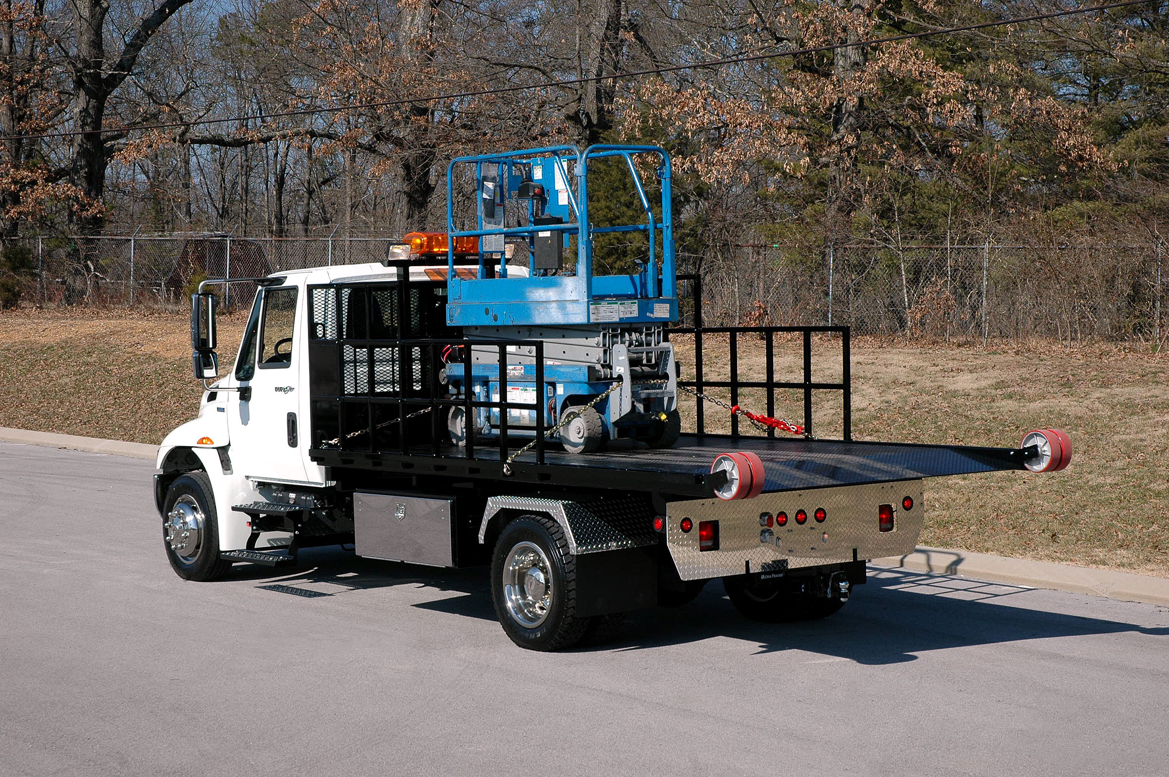 Titan® C-Series low deck height allows towing of taller loads